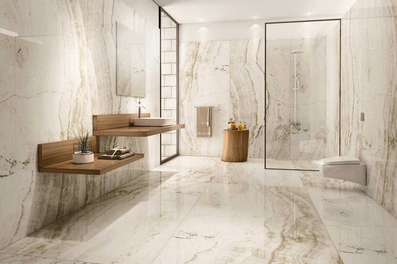 Duschen-Boden-und-wandlfiesen-im-Badezimmer-Modern-Waschbecken